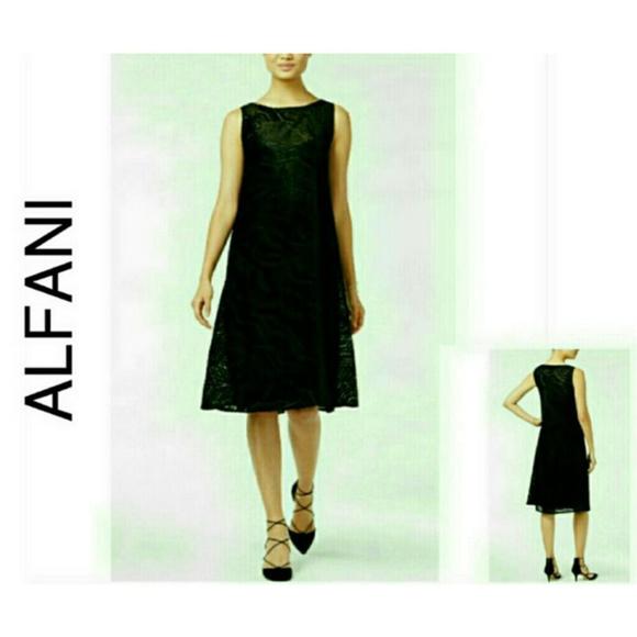 Alfani Dresses & Skirts - Black Velvet Cocktail Party Dress 6 NWT $130